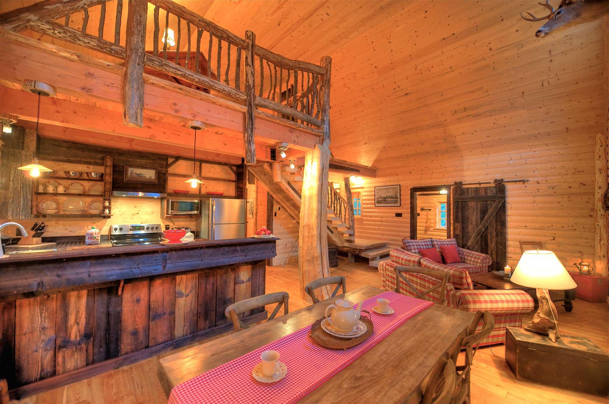 Chalet à louer au Mont Grand-Fonds dans Chalevoix - Le Totem